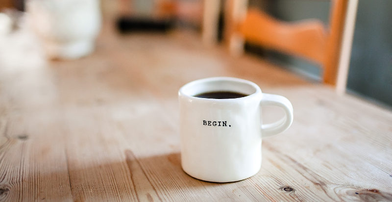 begin coffee cup