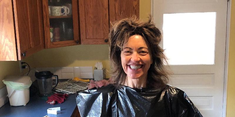 Diane coloring hair at home