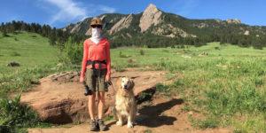 Diane hiking during COVID