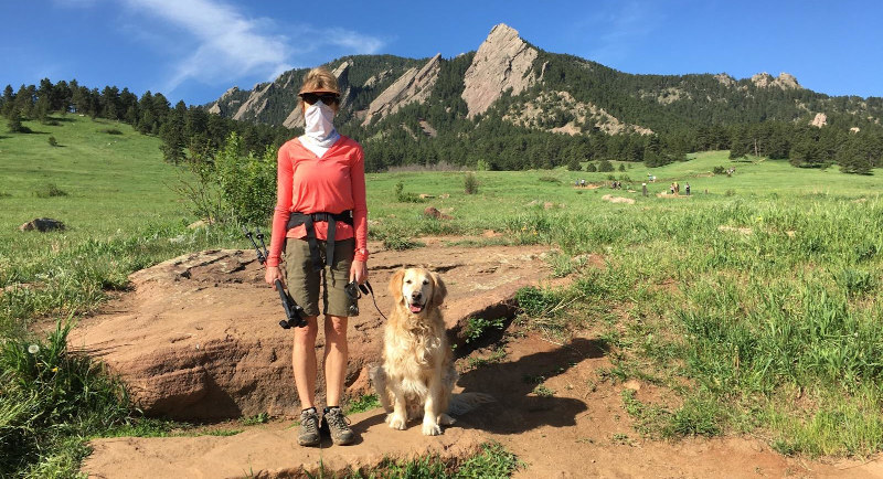 Image of Diane hiking