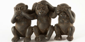 Monkey status see, hear, speak no evil