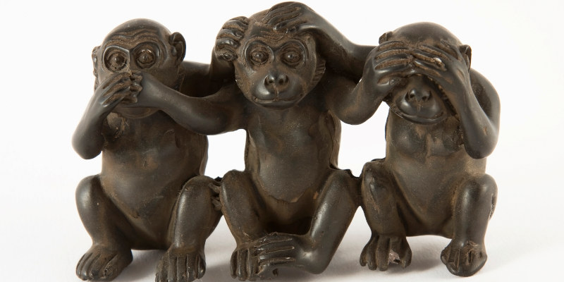 Monkey status see, hear, speak no evil