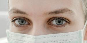 Nurse with mask on